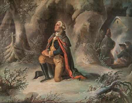 A painting of George Washington based on an engraving made by John C. McRae which, in turn, was based on an original painting by Henry Brueckner.